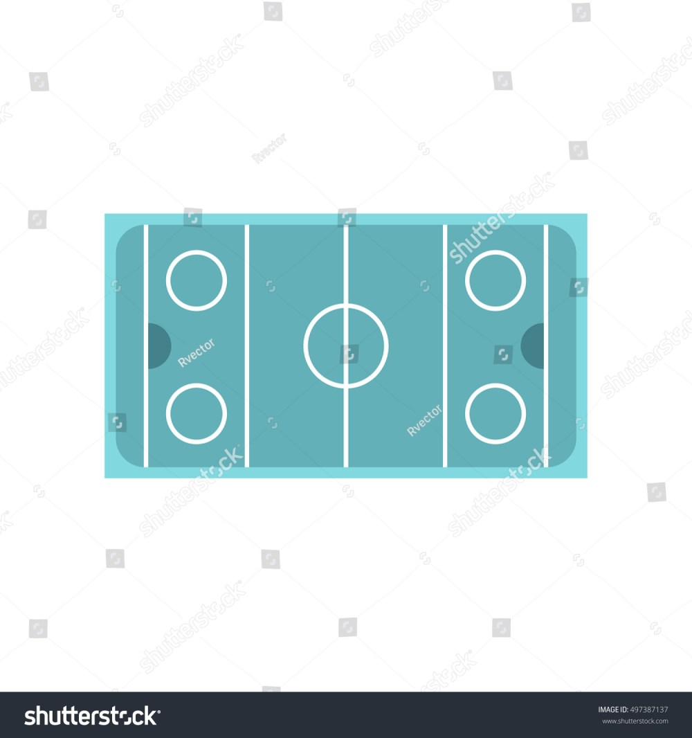 medium resolution of ice hockey rink icon in flat style on a white background illustration