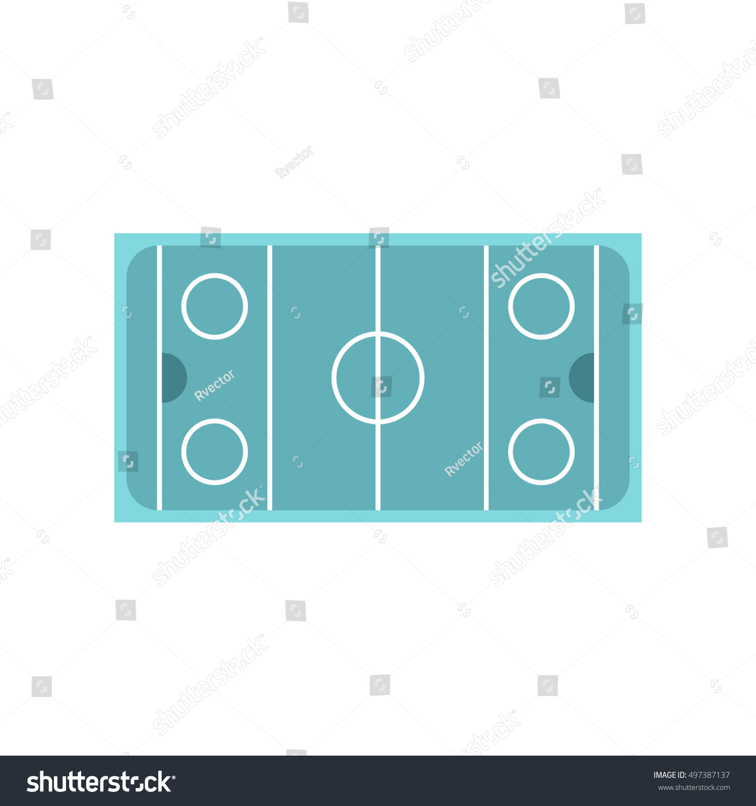 hight resolution of ice hockey rink icon in flat style on a white background illustration