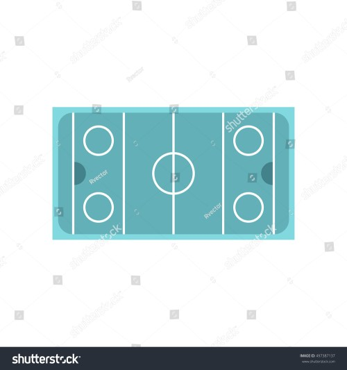 small resolution of ice hockey rink icon in flat style on a white background illustration