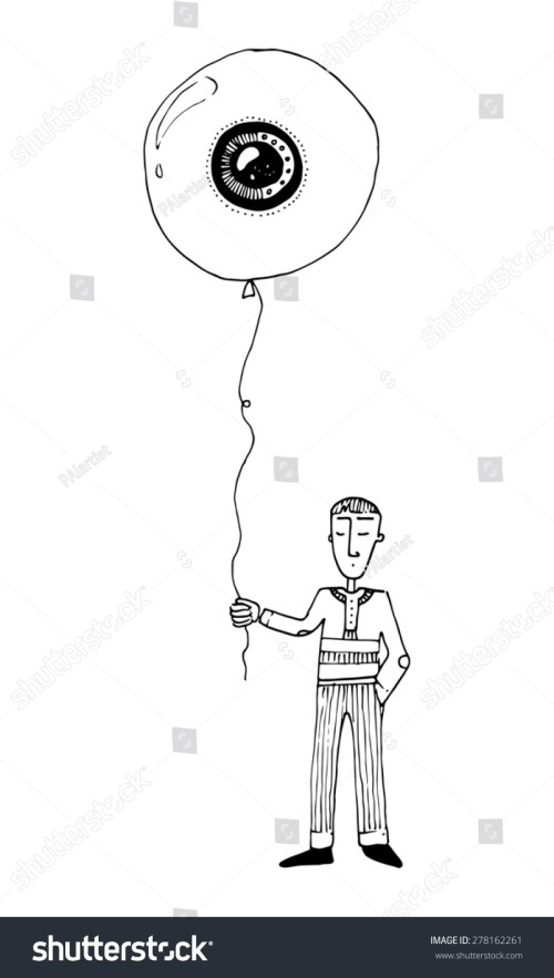 small resolution of illustration boy with a balloon eye shape simple drawing children