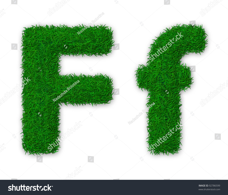 Illustration Capital Lowercase Letter F Made Stock