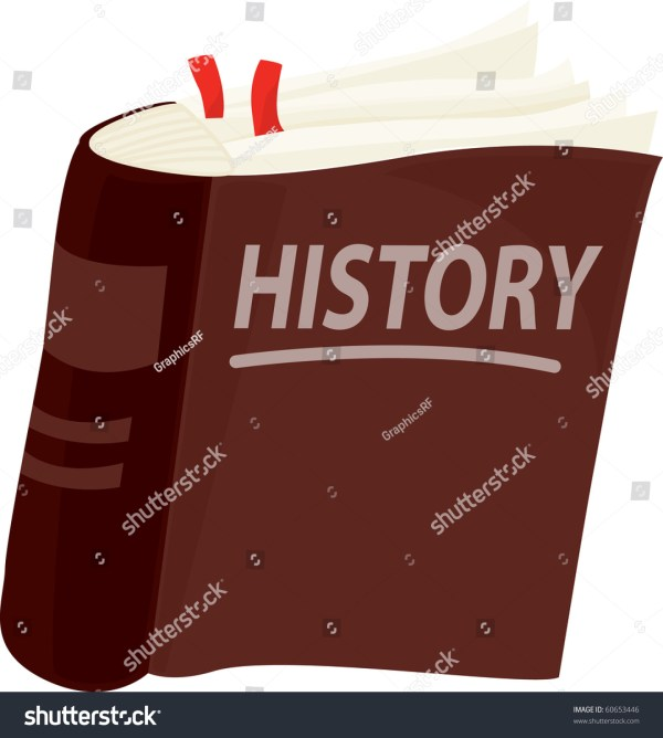 Illustration History Book White Background Stock