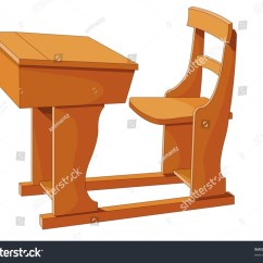 Chair Connected To Desk Picnic Table And Chairs Foldable Illustration Of Wooden With Attached