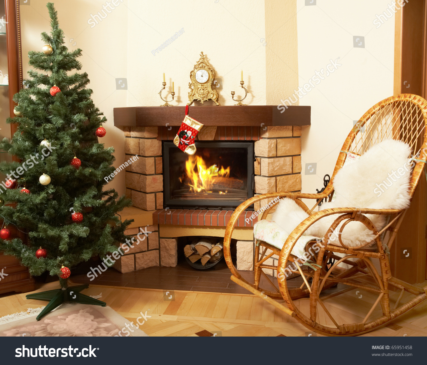 tree branch rocking chair pottery barn wicker image house room rockingchair christmas stock photo