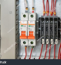in the electrical cabinet circuit breakers and fuse holders intermediate relay cable channel for wiring modern electrical equipment for the safe  [ 1500 x 1101 Pixel ]