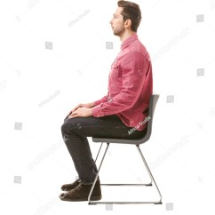 Posture Chair Sitting Picnic Time Chairs Wholesale Incorrect Concept Man On Stock Photo