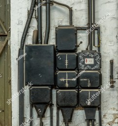industrial fuse box on the wall closeup photo [ 996 x 1600 Pixel ]