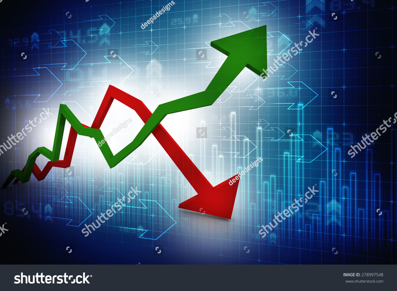 Inflation And Deflation Graph Imagen de archivo (stock) 278997548 : Shutterstock