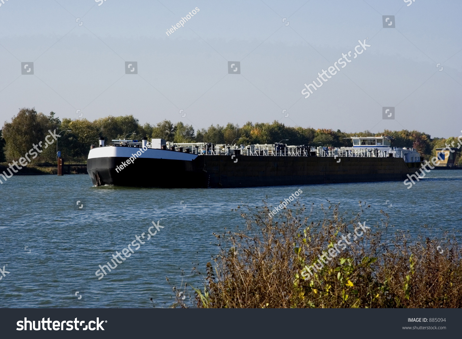 Inland Waterway Transportation - Channel In Germany - Adobe Rgb Stock Photo 885094 : Shutterstock