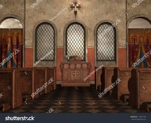 church fantasy interior medieval shutterstock