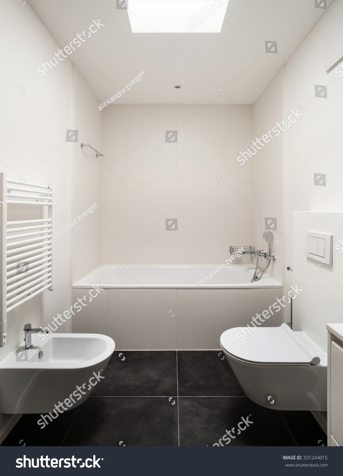 Interior Empty Apartment modern Bathroom Stock Photo 331244015  Shutterstock