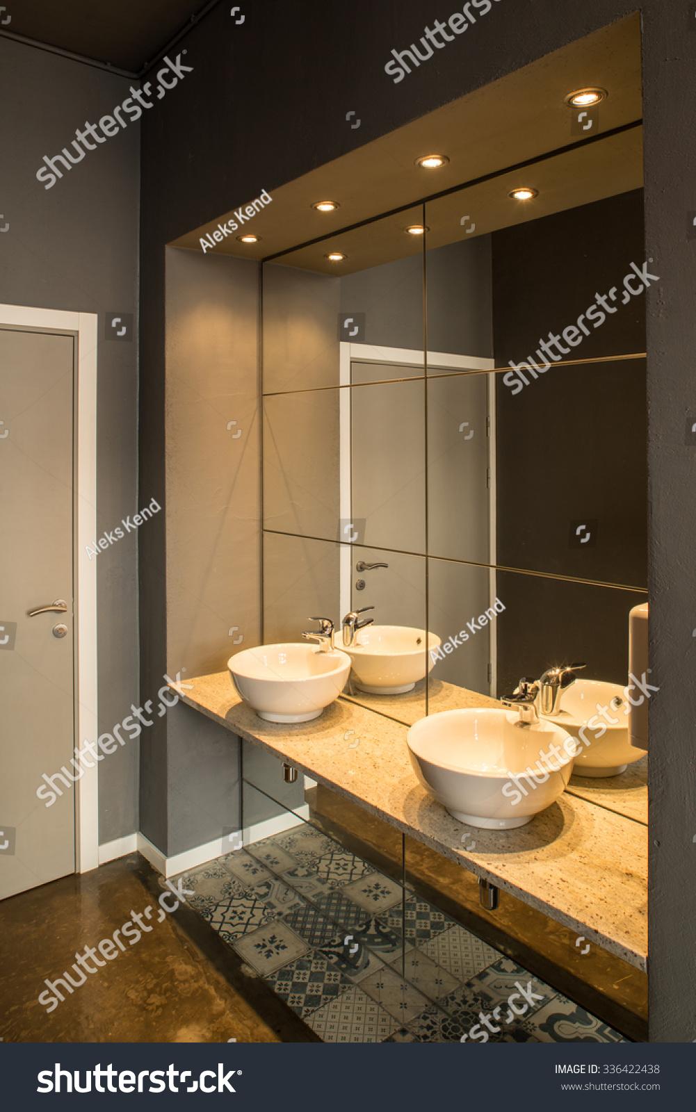 Interior Of Restaurant. Washroom, Sink. Stock Photo 336422438 : Shutterstock