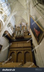 Interior View French Catholic Medieval Church Stock Photo Edit Now 94941613