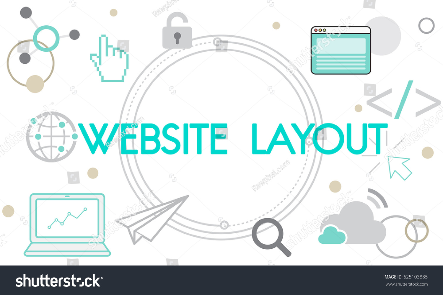 hight resolution of internet layout web template networking