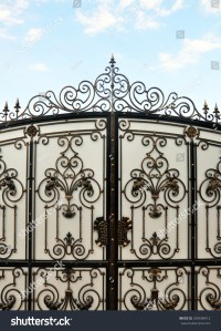 Iron Gate Wrought Ornament On Stock Photo 329698412 ...