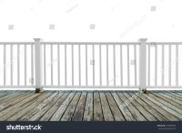 Isolate Wooden White Balcony Perspective Grunge Stock ...