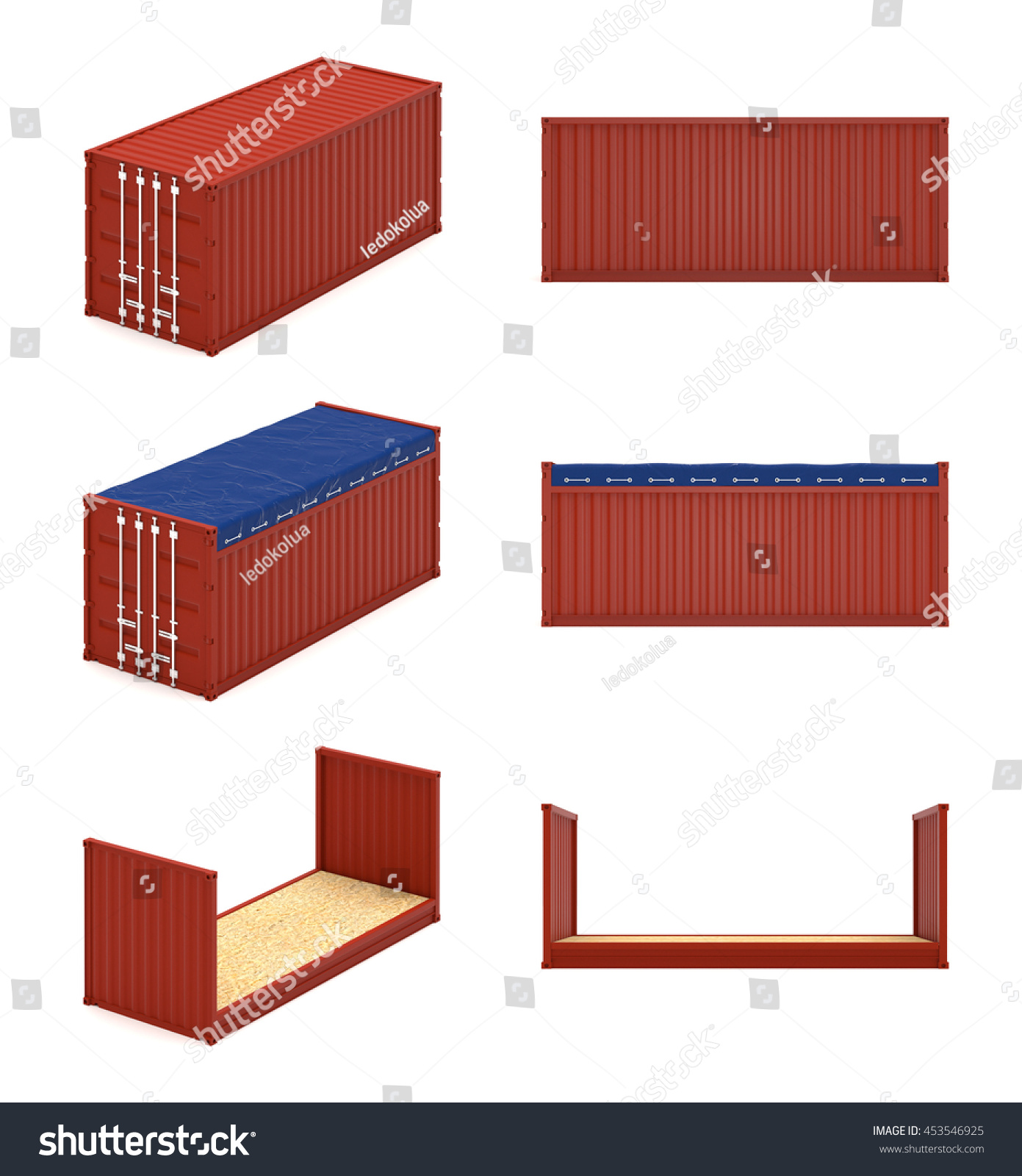 Best Kitchen Gallery: Isometric Cargo Containers Types 20 Feet Stock Illustration of Shipping Container Types on rachelxblog.com