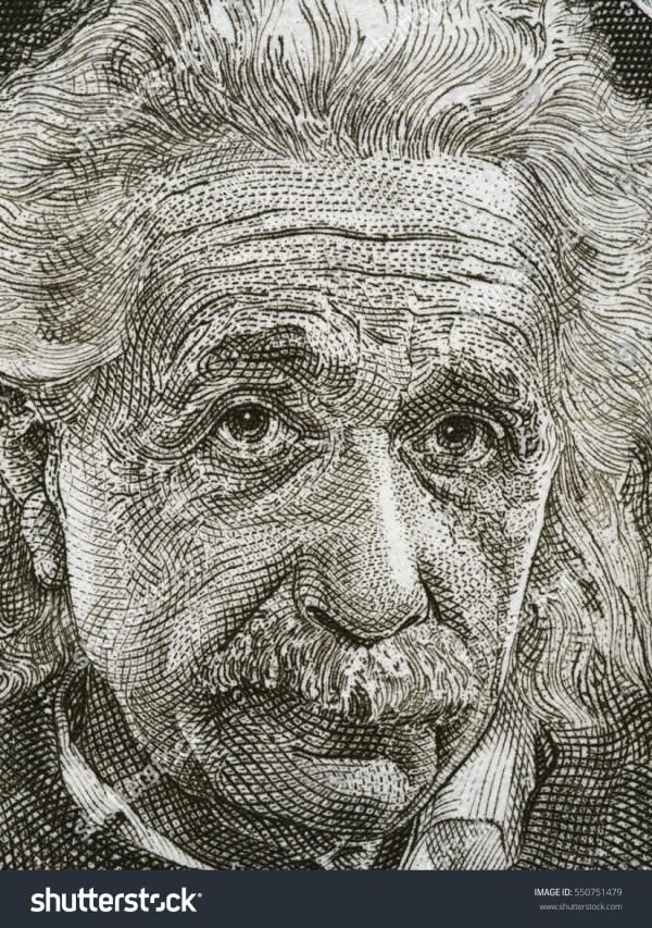 Israel Circa 1968 Albert Einstein Portrait Stock