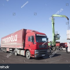 Semi Trailer Deutsch 5 Pin Relay Wiring Diagram Headlights Izmit Turkey May 29 2009 Stock Photo 468397355