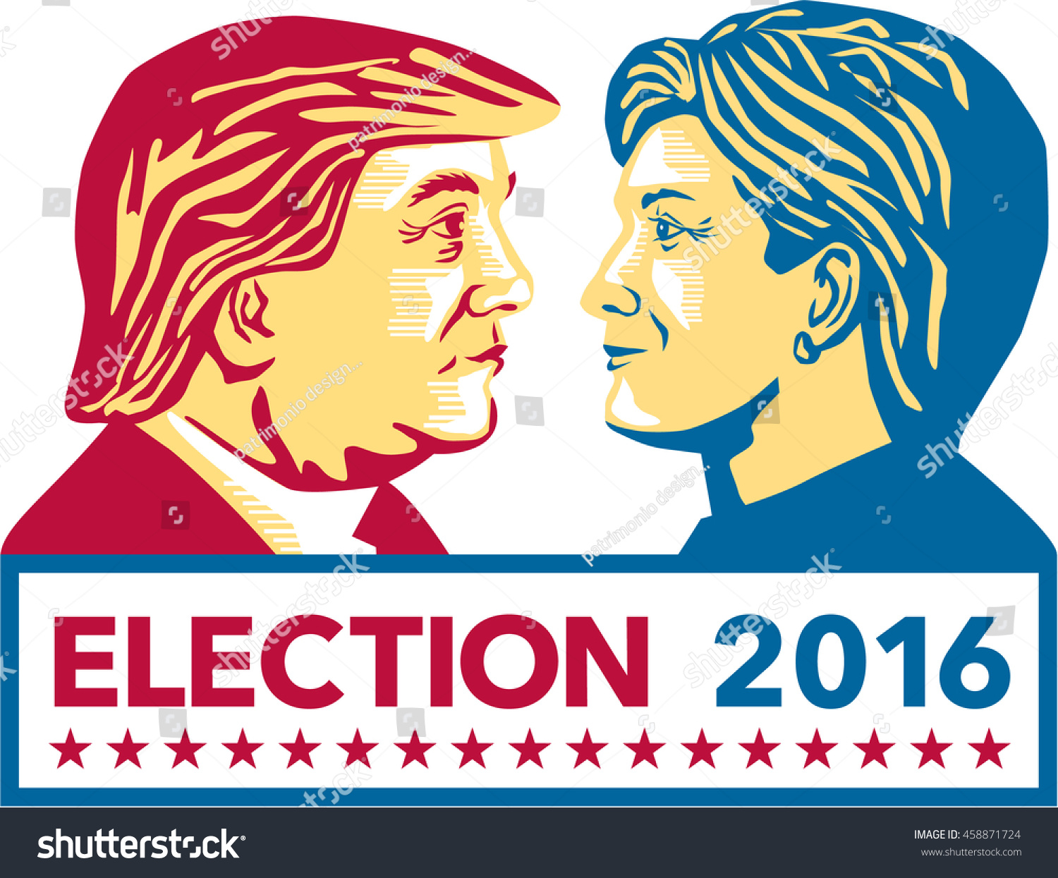 Image result for hillary vs donald trump art
