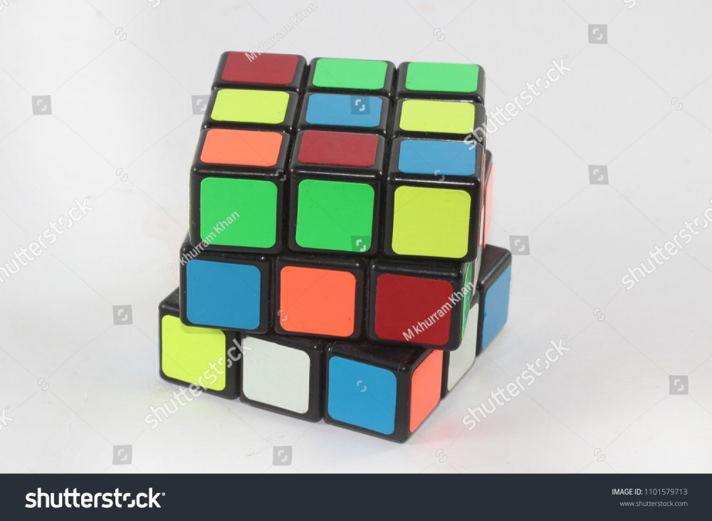 medium resolution of karachi pakistan 1 may 2018 solving the rubiks cube puzzle concept of solution
