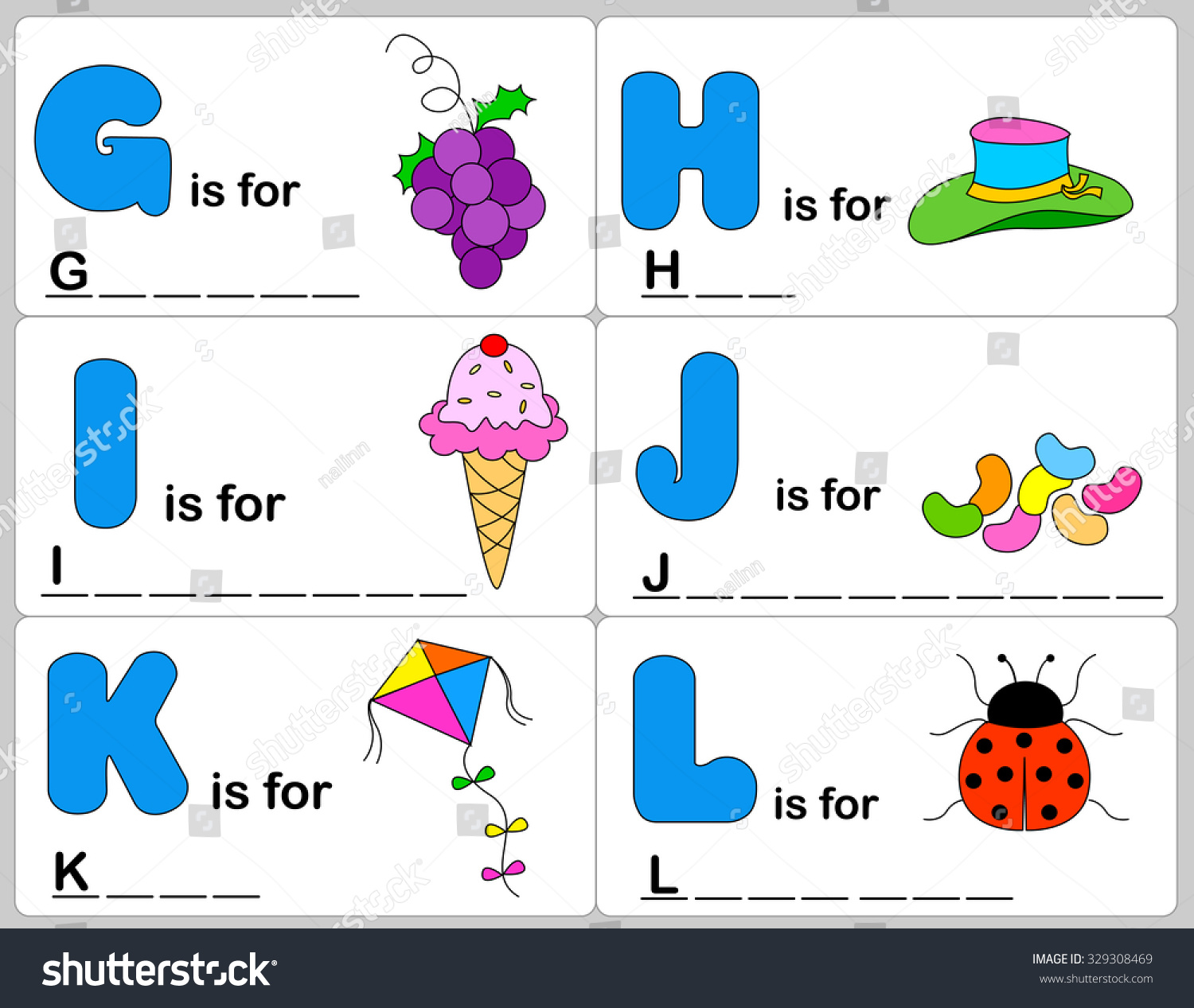 Kids Words Learning Game Worksheets Simple Stock