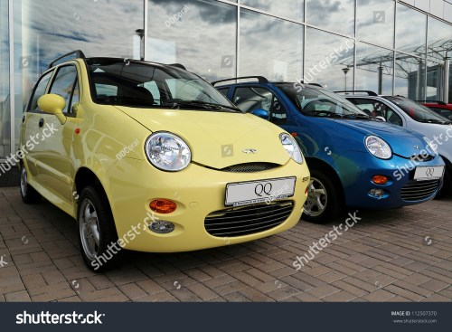 small resolution of kiev september 7 chery qq at yearly automotive show capital auto show