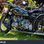 Kiskunlachaza Hungary 12 Jun 2019 Vintage Bmw Bike Is In Mint Condition At The Vintage Vehicles