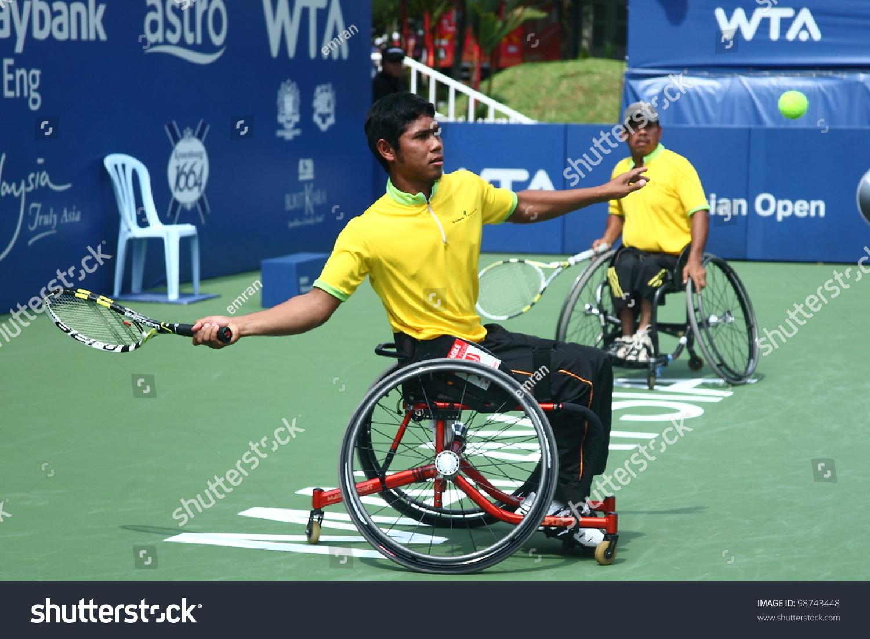 wheelchair olympics white resin lounge chairs kuala lumpur march 4 malaysia olympic