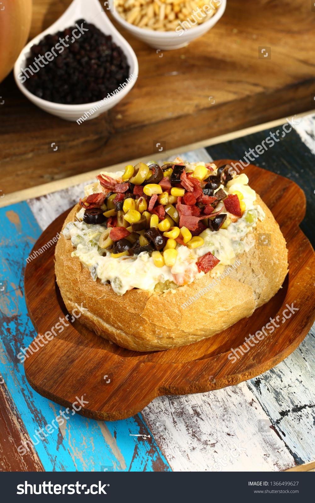Kumpir Recipe : kumpir, recipe, Kumpir, Baked, Potato, Vegetable, Bread, Stock, Photo, (Edit, 1366499627