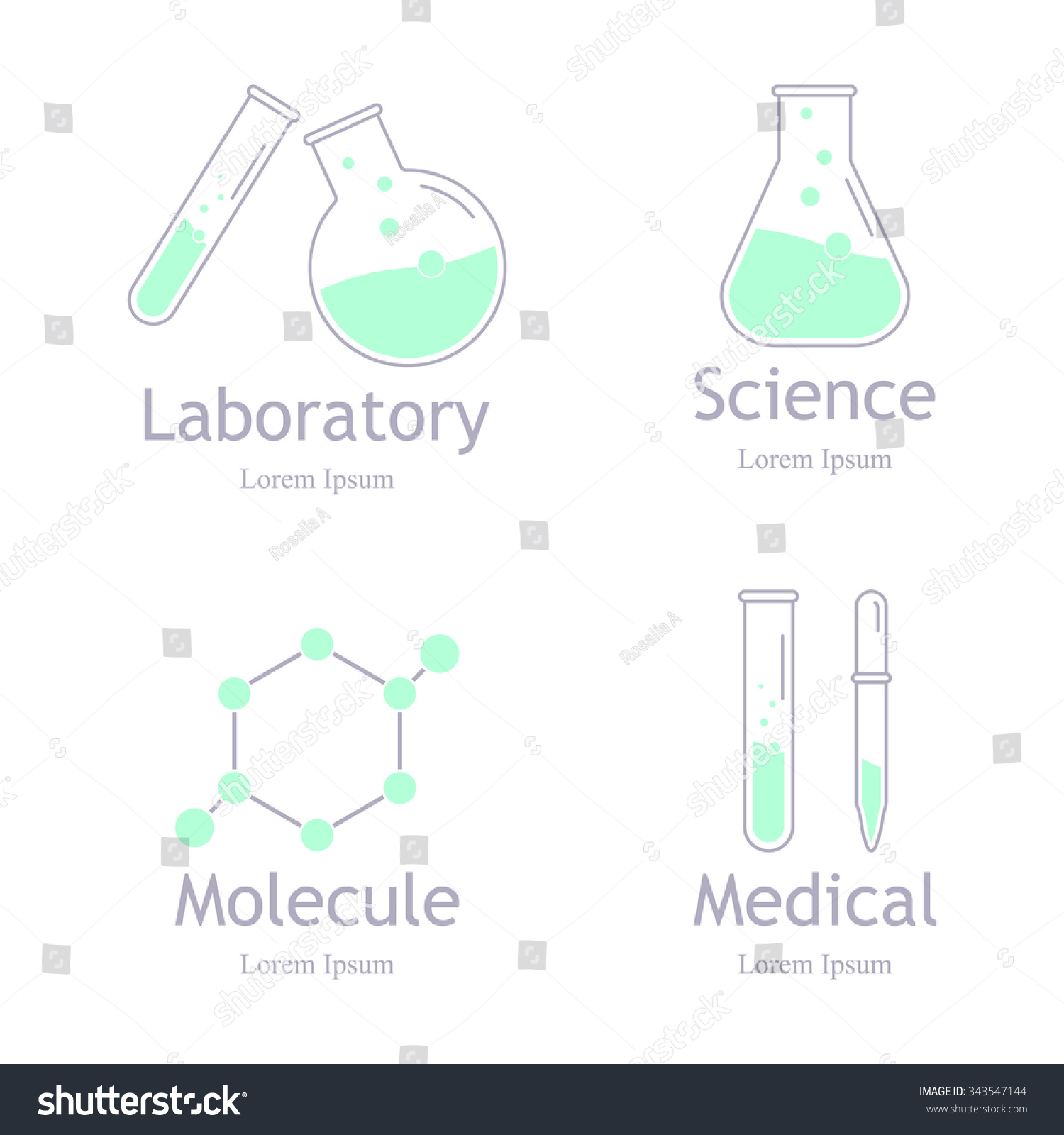 Laboratory Chemical Medical Test Logo Icon Stock Illustration