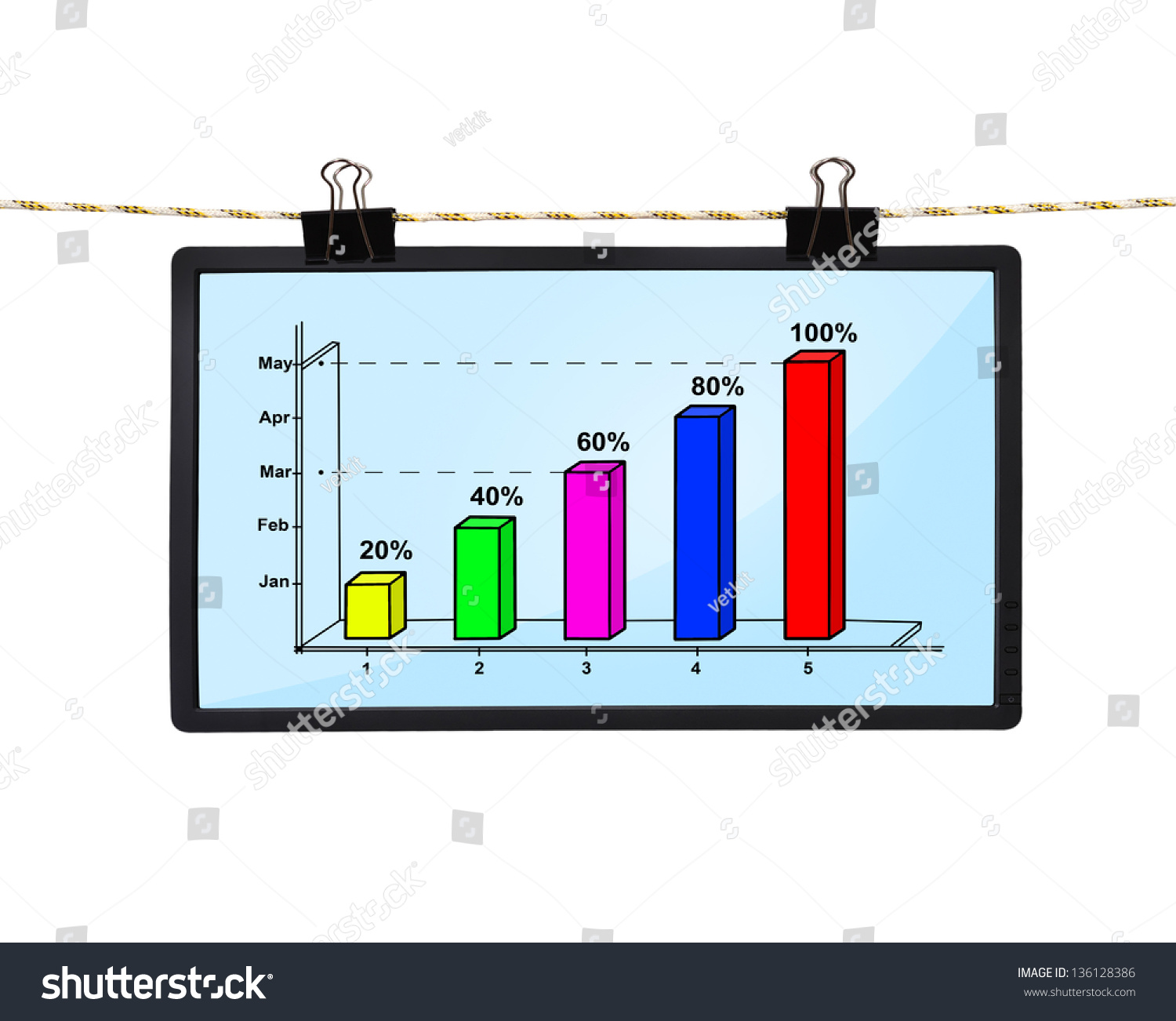 hight resolution of lcd screen with chart hanging on a rope
