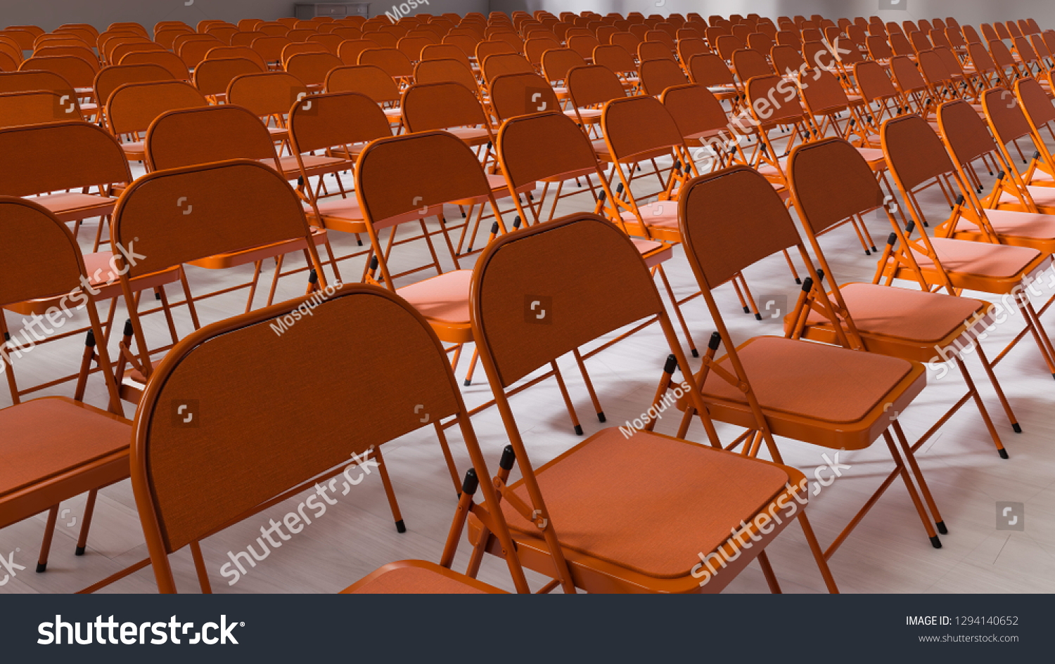 Soft Folding Chairs Lecture Hall Coral Folding Chairs On Stock Illustration Royalty