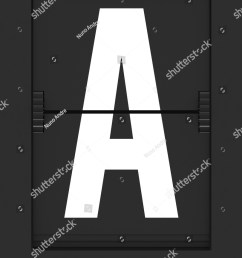 letter from a split flap mechanical board 3d render and part of a series  [ 1200 x 1600 Pixel ]