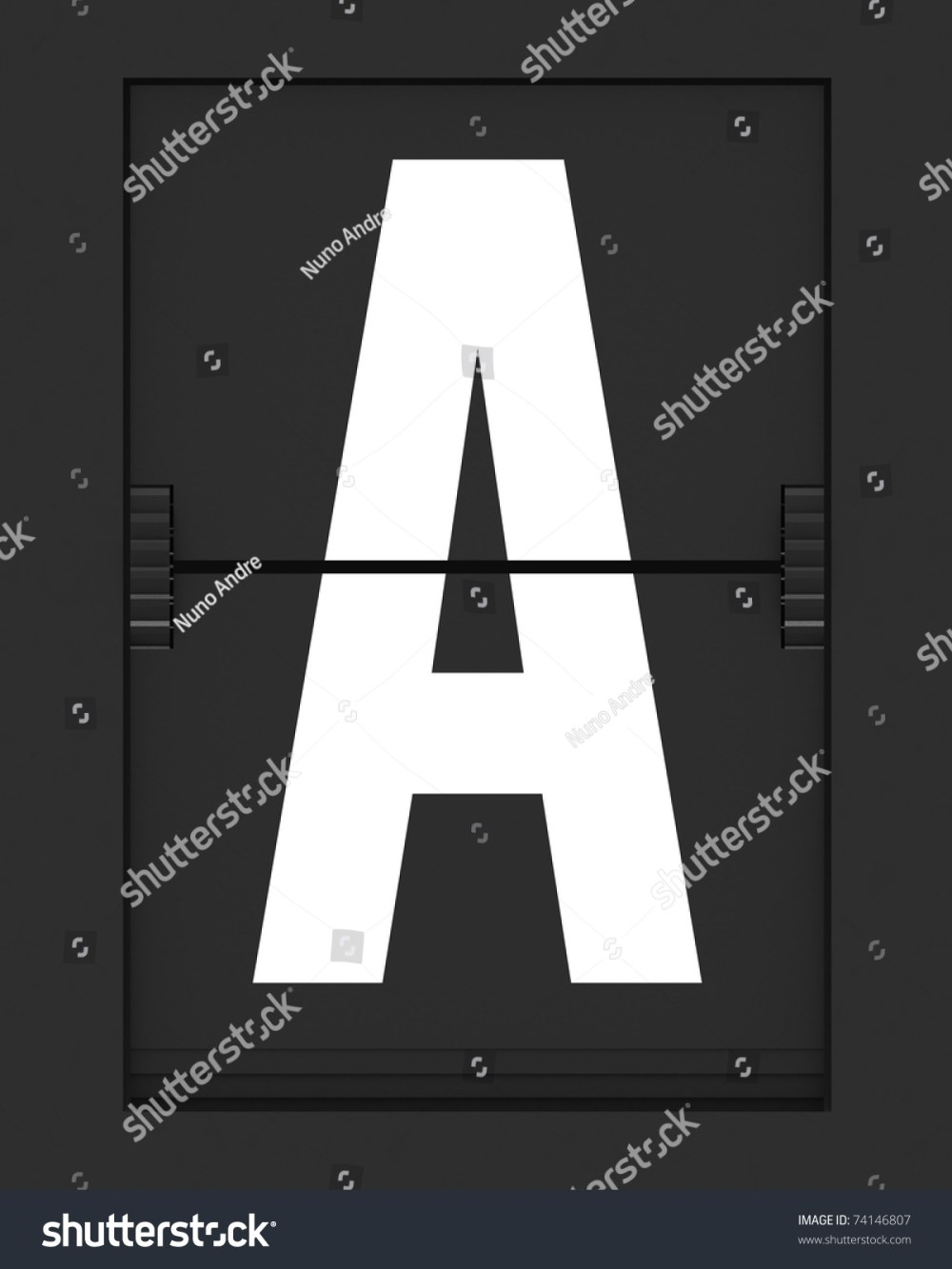 medium resolution of letter from a split flap mechanical board 3d render and part of a series