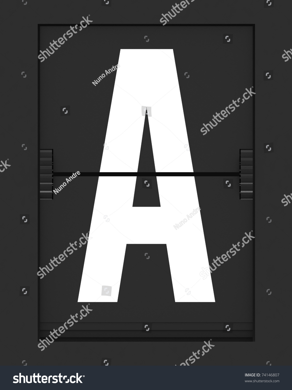 hight resolution of letter from a split flap mechanical board 3d render and part of a series