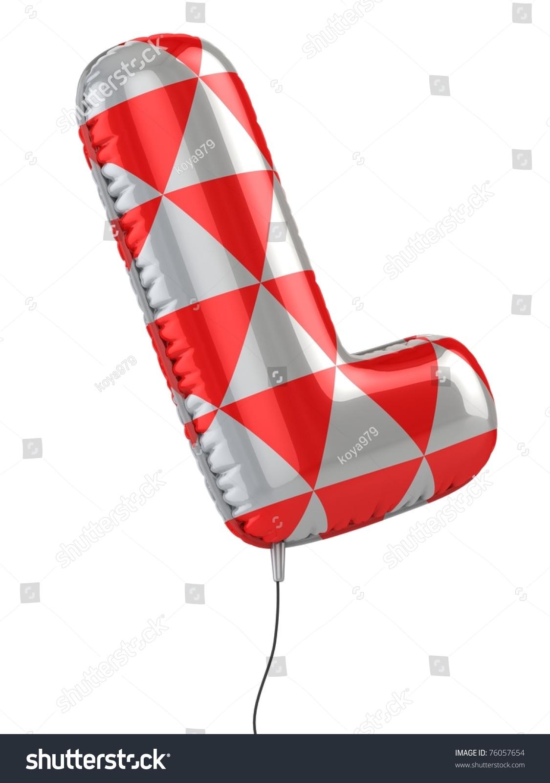 Letter L Balloon 3d Illustration