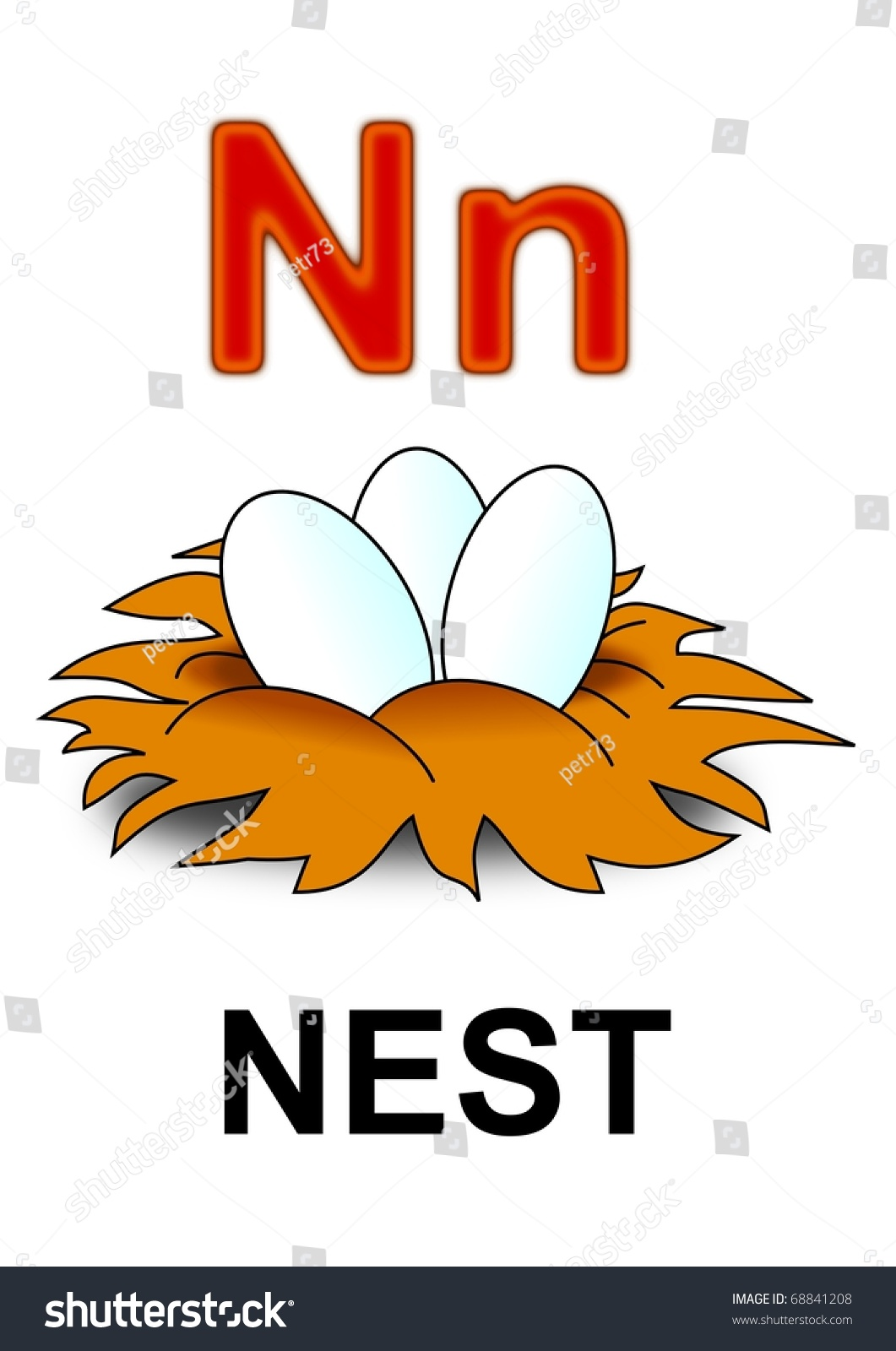 hight resolution of letter n nest