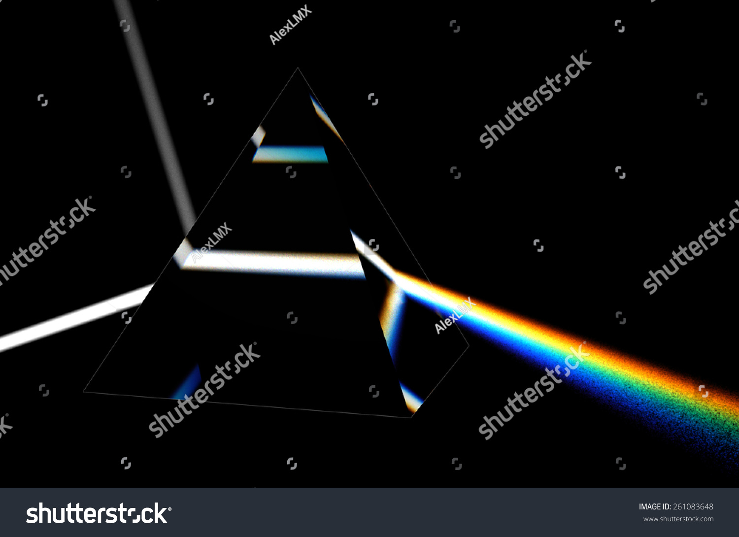 Light Separated To Spectrum Through Prism Stock Photo Shutterstock
