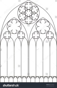 Line Drawing Of A Cathedral Window Stock Photo 40194373 ...