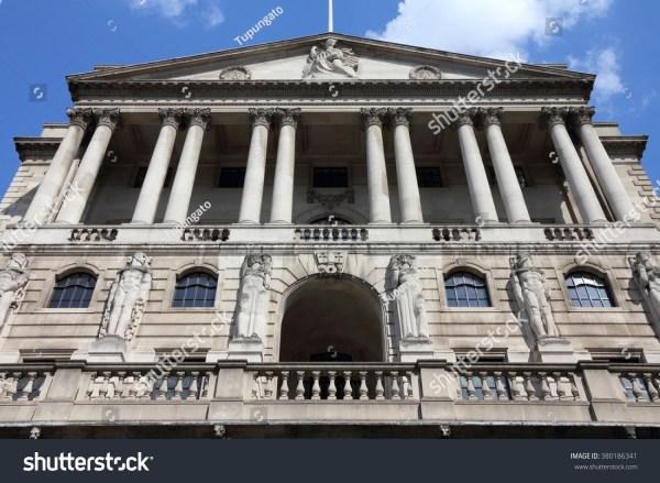 London Uk Bank England Building Facade Stock