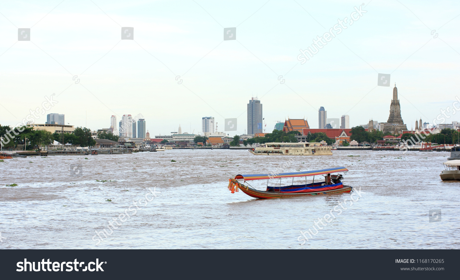 Long Tail Boat Mae Name Chaophaya Stock Photo Edit Now 1168170265