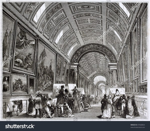 Louvre Museum Grand Illustration