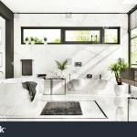 Luxurious White Marble Bathroom Shower Bathtub Stock Illustration 1448327015