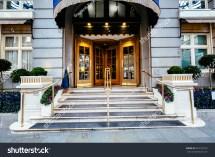 Luxury Five Star Hotel Entrance Door Stock 618129716