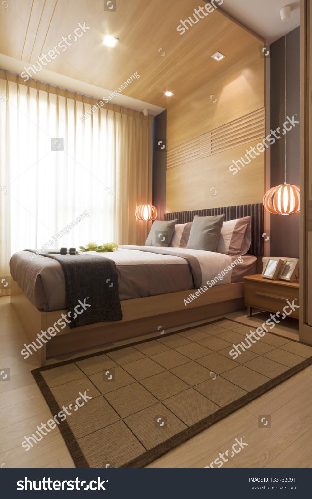 Modern Japanese Bedroom : modern, japanese, bedroom, Luxury, Modern, Japanese, Style, Bedroom, Stock, Photo, (Edit, 133732091