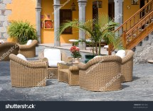 Luxury Outdoor Furniture Typical Patio Stock 7041244
