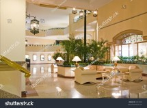 Luxury Resort Hotel Lobby Lounge Waiting Area And