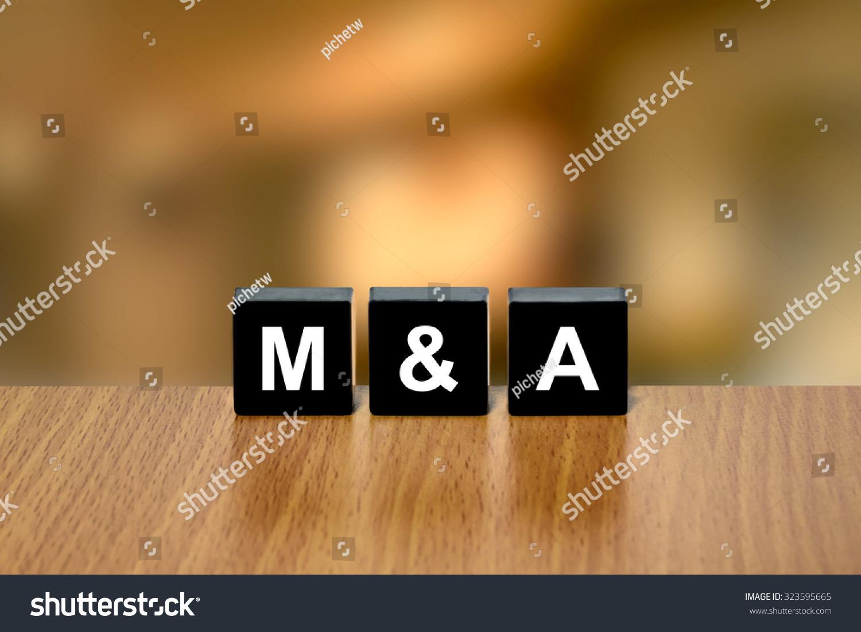 Ma Merger Acquisition On Black Block Stock Photo 323595665 - Shutterstock
