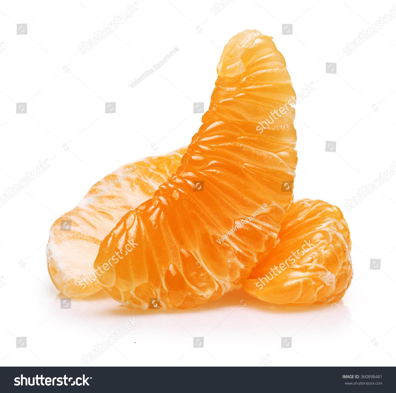 parts of an orange fruit diagram led wiring trailer lights mandarin citrus slice isolated stock photo